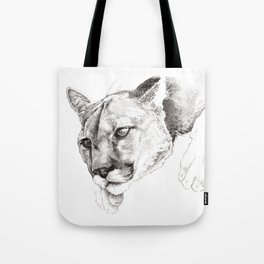 Sketch Of A Captived Mountain Lion Tote Bag