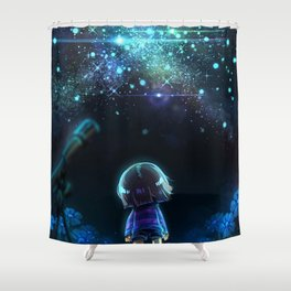 Starry (Night) Undertale Shower Curtain