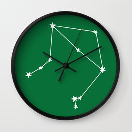 Libra (White & Olive Sign) Wall Clock