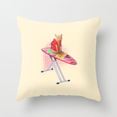 Hoverboard Cat Throw Pillow