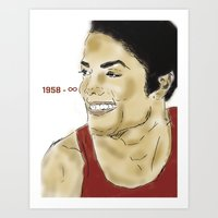 Legends Never Die : Michael  Art Print