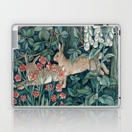William Morris Forest Rabbits and Foxglove Greenery Laptop & iPad Skin