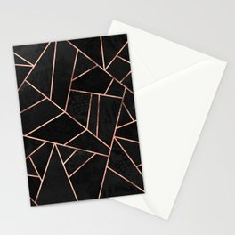 Velvet Black & Rose Gold Stationery Cards