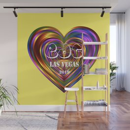 Electric Daisy Carnival Heart Wall Mural