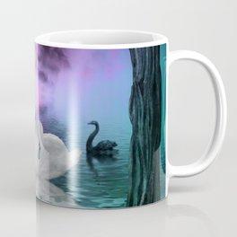 Wonderful black and white swan Coffee Mug