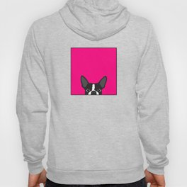Boston Terrier Hot Pink Hoody