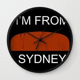 I'm from Sydney Wall Clock