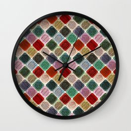 Colored Wood Pattern 2 Wall Clock