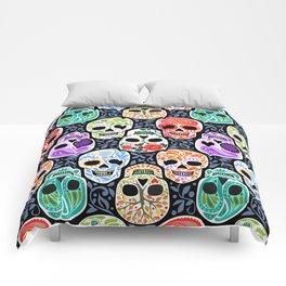 Calaveras_ Sugar Skulls_Celebracion del Color_RobinPickens Comforters