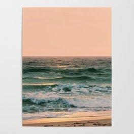 Pink Skies Ocean Vibes Poster
