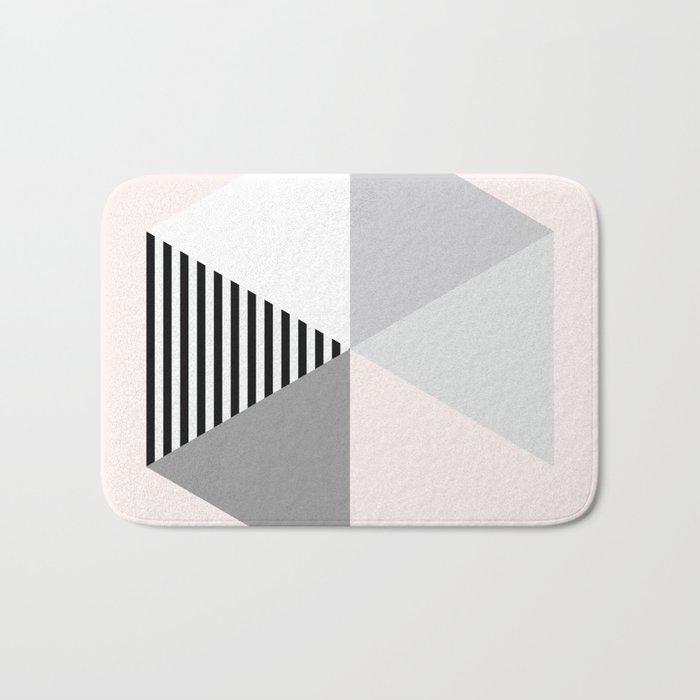 Minimalist Geometric Bath Mat