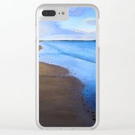 Last Light, Uretiti Beach Clear iPhone Case
