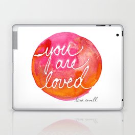 You Are Loved Inky Dot by Lara Cornell Laptop & iPad Skin