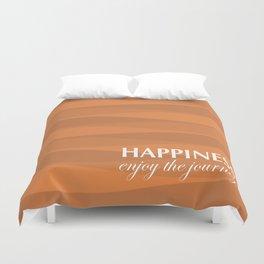 Orange for Happiness Duvet Cover