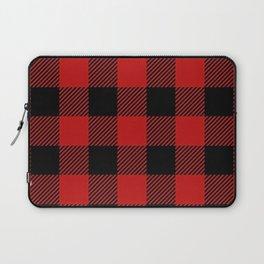 Western Country Woodland Christmas Cottage Primitive lumberjack Buffalo Plaid Laptop Sleeve