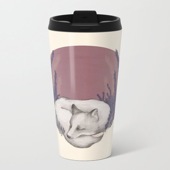 Fox & Lavender Metal Travel Mug
