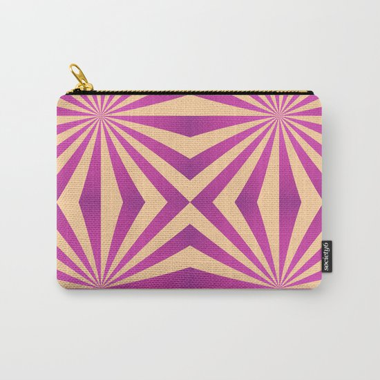 Purple and pale yellow - Geometric game Carry-All Pouch