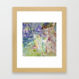 Abstracted Spring Iris Framed Art Print