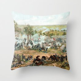 Battle Of Gettysburg -- American Civil War Throw Pillow