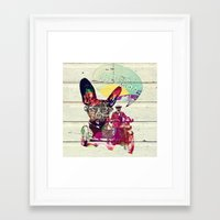 french Framed Art Prints featuring FRENCH by DON'T NEED NO SAMURAI