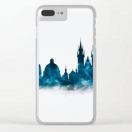 Prague Skyline Clear iPhone Case
