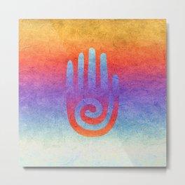Spiral Hand Rainbow Grunge II Metal Print
