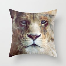 Lion // Majesty Throw Pillow