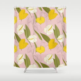 kala pink summer Shower Curtain