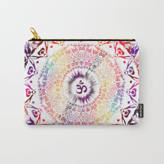 Radiant Om Mandala Carry-All Pouch