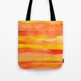Watercolor Pattern Abstract Summer Sunrise Sky on Fire Tote Bag