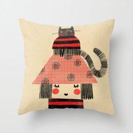 CAT & HAT Throw Pillow
