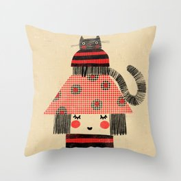 CAT & HAT Throw Pillow