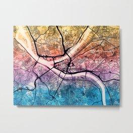 Pittsburgh Pennsylvania Street Map Metal Print