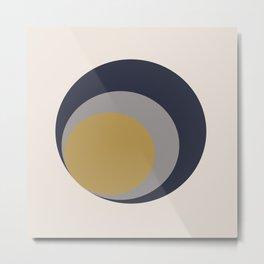 Inverted Circles Metal Print