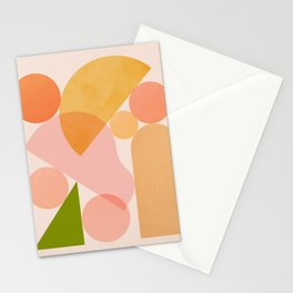 Abstraction_SHAPES_COLOR_Minimalism_002 Stationery Cards