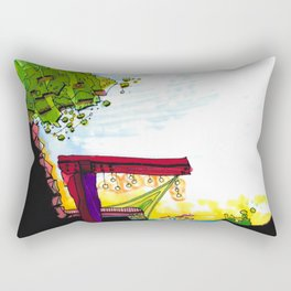 Gypsy River Architectural Illustration 89 Rectangular Pillow