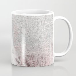 The Winter Road in the Suburb. Coffee Mug