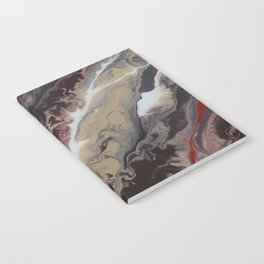 Neutral Black, Red and Brown Painting - Schism Abstract Notebook