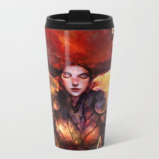keep calm and shine on Metal Travel Mug