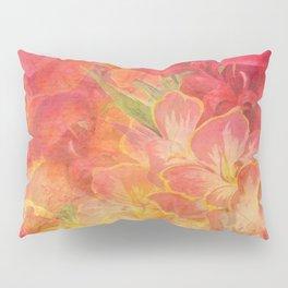 Floral Pink Flowers Vintage Pattern Romantic Bouquet Pillow Sham
