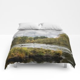 Fall on the McKenzie River Comforters