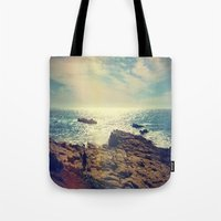 chile Tote Bags featuring Quintero, Chile. by Viviana Gonzalez