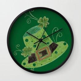 Luck of the Irish leprechaun's hat Wall Clock