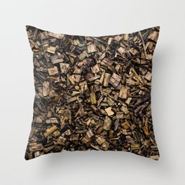 Wood Chips Throw Pillow