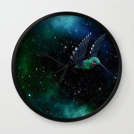 Space Hummingbird Wall Clock