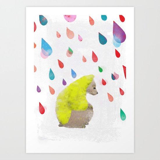 rainy day dream away Art Print
