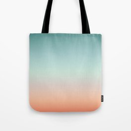 Color gradient background - fading sunset sky colors Tote Bag