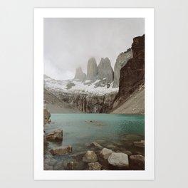 TORRES DEL PAINE II Art Print