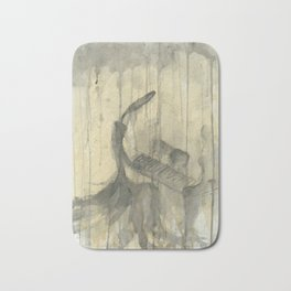 """PIANO. A SERIES OF WORKS """"MUSIC OF THE RAIN"""" Bath Mat"""