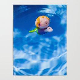 Mermaid in the pool Poster
